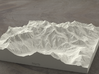 6''/15cm Mt. Blanc, France/Italy, Sandstone 3d printed Radiance rendering of model from the north
