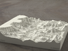 6'' Grand Canyon, Arizona, USA, Sandstone 3d printed Radiance rendering of model, viewed from the east.