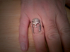 Spartan Helmet Ring - Size US 10.25 3d printed Worn daily for a year...