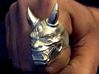Japanese Hannya Demon 3d printed Raw silver just as I received it.