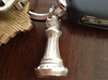 Chess King Pendant 3d printed Picture of the King in Stainless Steel