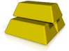 Stacked Gold Bars 3d printed Render of the stacked gold bars