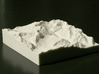 3''/7.5cm Oberland Peaks, Switzerland, Sandstone 3d printed Photo of actual model, highlighting the Eiger Nordwand.