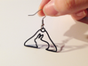 Rabbit Hanger Earring 3d printed black strong & flexible