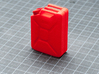 NATO 20L Jerry Can 1/10 Scale 3d printed Coral Red Strong & Flexible Polished