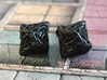 Celtic Percentile D10, D100 Two Dice Set 3d printed Printed in Polished Grey Steel
