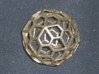 Polyhedral Pendant 3d printed pendant in brass