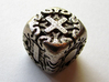 Fudge Art Nouveau Die6 3d printed In stainless steel