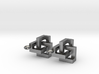 CTK Earrings silver 3d printed