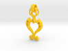 Pendant Higher Love classic 3d printed Romantic Pendant with Heart