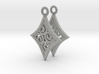 Ace Earrings - Diamonds 3d printed