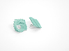 Arithmetic Earrings (Studs) 3d printed Custom Dyed Color (Teal)