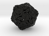 20-sided die with leaves 3d printed