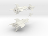 Martian War Rocket Fleet 3d printed