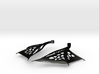 Wing Earrings - Fishhooks 3d printed