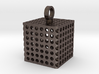 Perforated Cube Pendant 3d printed