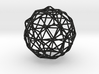 Nested Icosahedron in Dodecahedron in Icosidodecah 3d printed