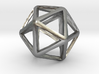 Icosahedron Wireframe Catmull Clark 30mm 3d printed