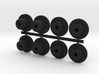 8 Gluable PCB Standoffs for PC Boards 3d printed