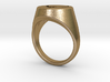 Quake Live signet ring. US size 14 UK size Z3 3d printed