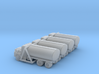 Mack Tank Truck - Set of 4 - Nscale 3d printed