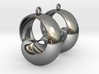 MobTor Earrings: the half Mobius Torus Shell 3d printed