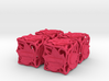 Fudge Botanical Die6 (Tulip Tree) 4d6 Set 3d printed