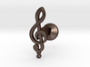 Tenor Treble Clef Cufflink (single) 3d printed