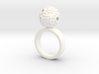 Textured Ball Ring - size M 3d printed