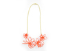 Flora Necklace 3d printed Coral (Custom Dyed Color)