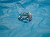 One strand twist ring 3d printed Ring in silver with diamond simulant