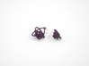 Sprouted Spiral Earrings 3d printed Eggplant Nylon (Custom Dyed Color)