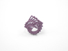 Arithmetic Ring (Size 6) 3d printed Wisteria Nylon (Custom Dyed Color)