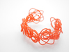 Sprouted Spirals Cuff (Messy) 3d printed Coral Nylon (Custom Dyed Color)