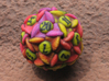 Flower Dice (Small) 3d printed D20
