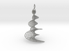 Helicoidal Earrings with Spirals 3d printed