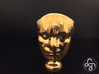 Beethoven's Life Mask [6cm] Hollow 3d printed Front [Polished Bronze]