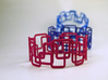 Modern Graphics Bracelet 3d printed Red, Hot Pink and Blue