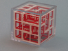 """SOMA's Revenge"" - Interlocking Puzzle Cube 3d printed ""SOMA's Revenge"" - In Clear Plastic Display Case"