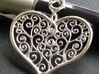 Heart Filigree Pendant 3d printed