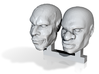 heads 28 mm 3d printed