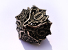 Botanical Die10 (Oak) 3d printed In stainless steel and inked