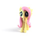 My Little Pony - Fluttershy (≈75mm tall) 3d printed
