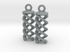 Triple Helix Earrings 3d printed