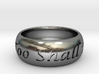 This Too Shall Pass, custom ring size 3d printed