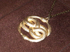 THE NEVERENDING STORY THE AURYN MEDALLION PENDANT 3d printed Gold-plated AURYN
