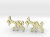 "Hebrew Name Cufflinks - ""Eli"" 3d printed"