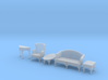 1:48 Queen Anne Living Room Set 3d printed