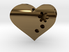 Personalized Golden Heart pendant 3d printed