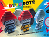 DevoBot Series 1 Yellow Bio Suit + Glasses: Mark M 3d printed